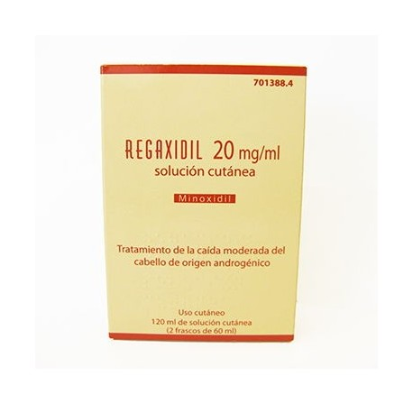 Regaxidil 2% Solucion Cutanea 2 Frascos 60 Ml