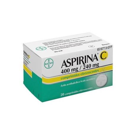Aspirina C 400/240 mg 20 comprimidos efervescentes comprar farmacia online