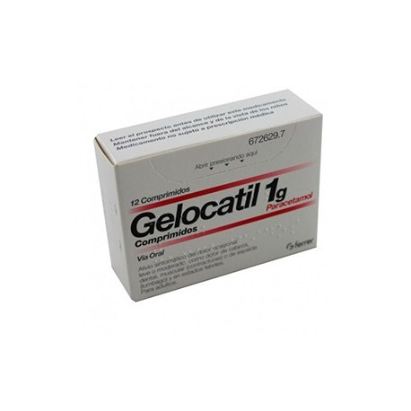 Gelocatil 1 G 12 Comprimidos