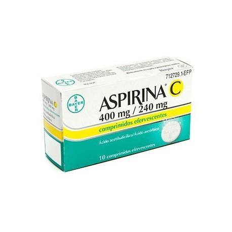 Aspirina C 400/240 Mg 10 Compr Efer