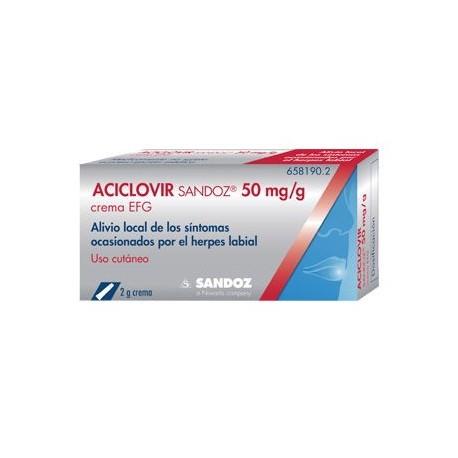 Aciclovir Sandoz Efg 5% Crema 2 G