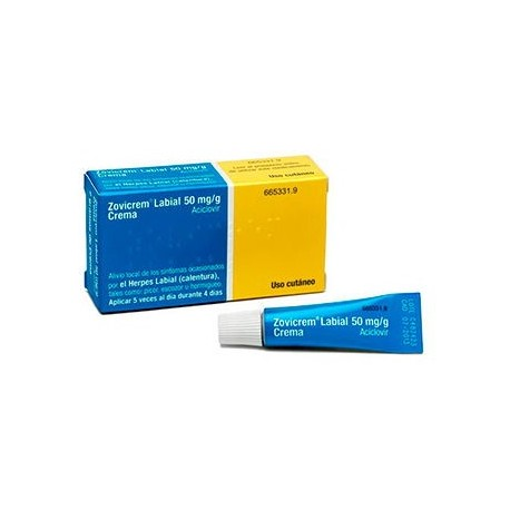 Zovicrem Labial 50 Mg/g Crema 2 G Tubo