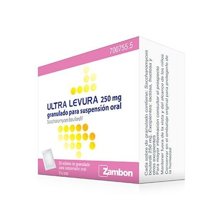 Ultra-levura 250 Mg 20 Sobres