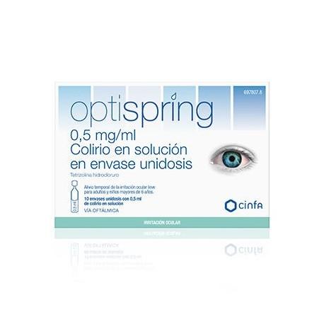 Optispring 0.05% Colirio 10 Monodosis Solucion 0
