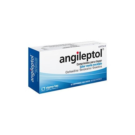 Angileptol Menta-eucalipto 30 Comp.
