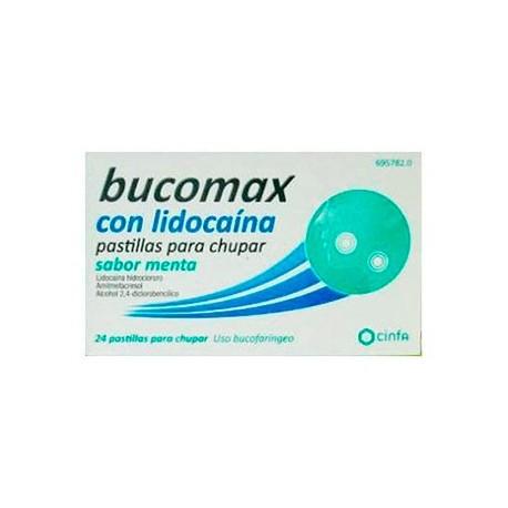 Bucomax Lidocaina 24 Pastillas Para Chupar Menta