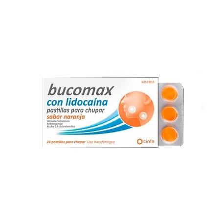 Bucomax Lidocaina 24 Pastillas Para Chupar Naran