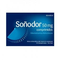 Soñodor 50 Mg 10 Comprimidos