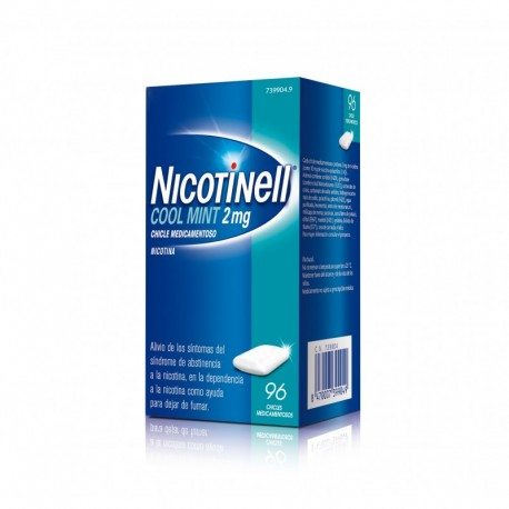 Nicotinell Cool Mint 2 Mg 96 Chicles Medicamento