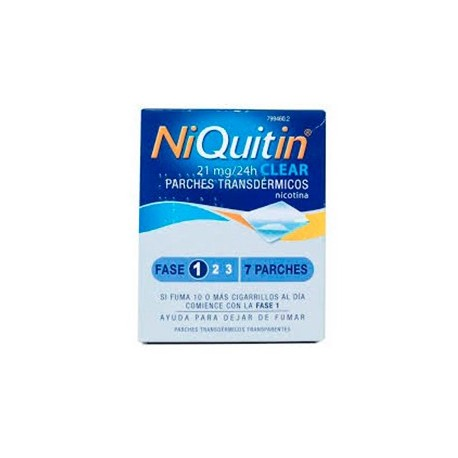 Niquitin Clear 21 Mg. 7 Parches