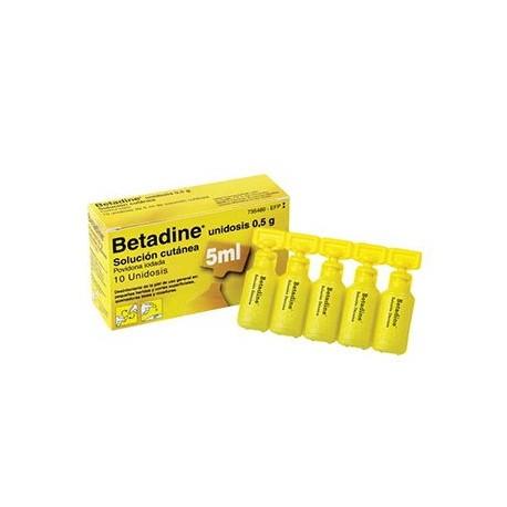 Betadine 10% Solucion Topica 10 Unidosis 5 Ml