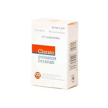 Clorato Potasico Orravan 30 Comprimidos Para Chu