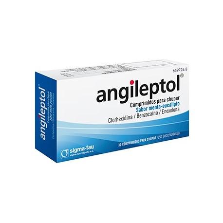 Angileptol 15 Comprimidos Para Chupar Menta-euca