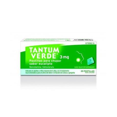Tantum Verde 3 Mg 20 Pastillas Para Chupar Eucal