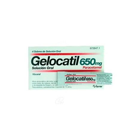 Gelocatil 650 Mg 4 Sobres Solucion Oral