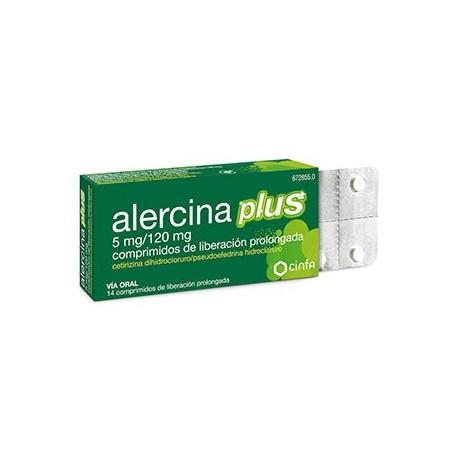 Alercina Plus 5/120 Mg 14 Comprimidos