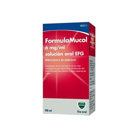 Formulamucol 30 Mg/5 Ml Solucion Oral 100 Ml