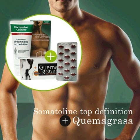 Somatoline Hombre Top Definition + Quemagrasas Abdominal Formula Forte Lipomorosil Forte
