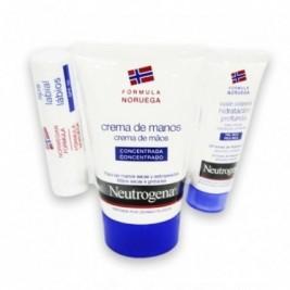 Neutrogena Pack Crema Manos 50 Ml + Lapiz Labios + Locion Corporal Hidratacion Profunda 15 Ml