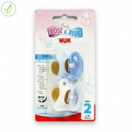 Nuk 2 Chupetes Rose & Blue Anilla Latex +6