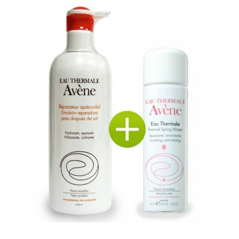 Avene Emulsion Reparadora Despues Del Sol Y Agua Termal De Avene 50 Ml