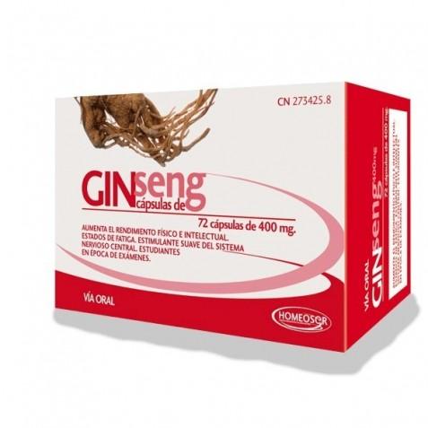 Ginseng 400 Mg 72 Capsulas Homeosor
