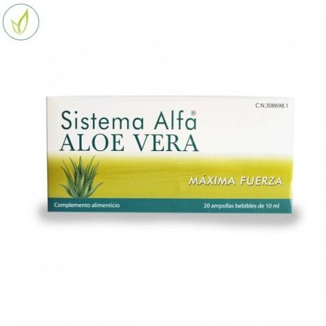 Sistema Alfa Aloe Vera Maxima Fuerza 20 Ampollas