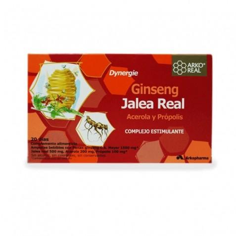 Arko Real Ginseng Jalea Real Acerola Y Propolis 20 Ampollas