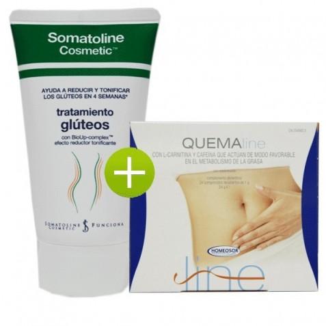 Somatoline Cosmetic Tratamiento Gluteos + Quemaline 24 Comp Homeosor