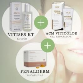 Tratamiento Vitiligo Vitises Kt + Fenalderm + Maquillaje Para Vitiligo Acm Viticolor