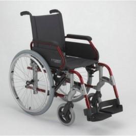 "Silla Ruedas B-300 Asiento 43Cm Rueda 24"" Aluminio"