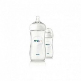 Philips Avent Biberon Natural 330Ml/11Oz Duplo Transparente