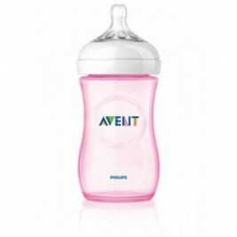 Philips Avent Biberon Natural 260Ml/9Oz Pack Individual Rosa