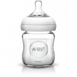 Philips Avent Natural Glass Bottle Single 4Oz, 120 Ml