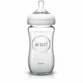 Philips Avent Natural Glass Bottle Single 8Oz, 240 Ml