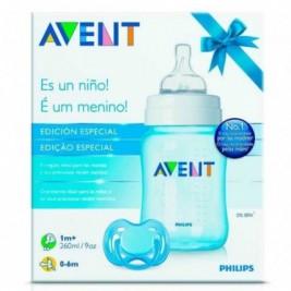 Philips Avent Set Biberon Classic+ Y Chupete Azul