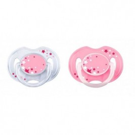Philips Avent 2 Chupetes Nocturnos 0-6 Meses Rosa (Novedad)