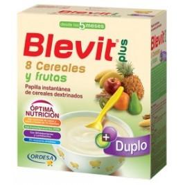 Blevit Plus Duplo 8 Cereales con miel y frutas 2 uds 300 gr
