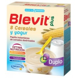 Blevit Plus Duplo 8 Cereales con Yogurt 2 uds de 300 gr