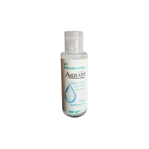 Gel desinfectante de manos sin agua 100 ml 70% alcohol Arbasy