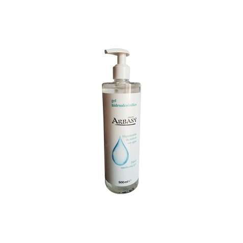 Gel desinfectante de manos sin agua 500 ml 70% alcohol Arbasy